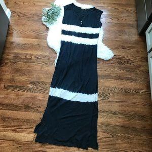 Beachlunchlounge striped tie dye maxi dress